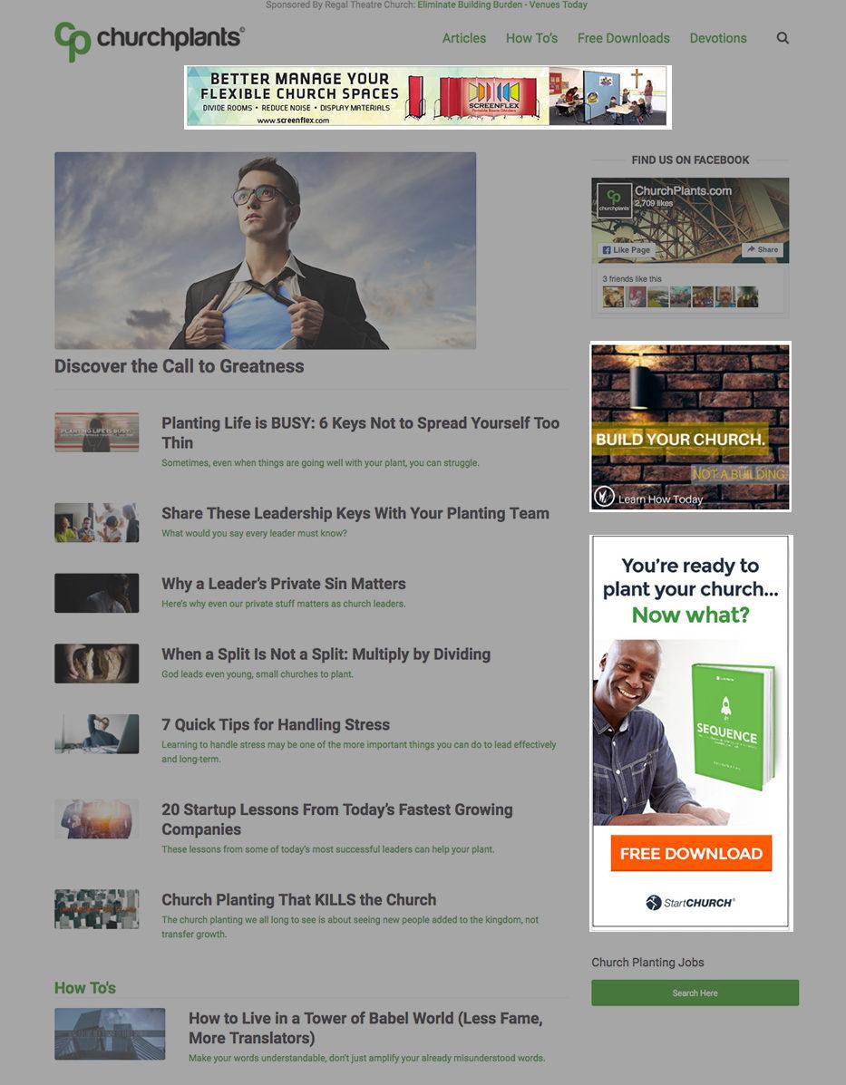 ChurchPlants Online Display