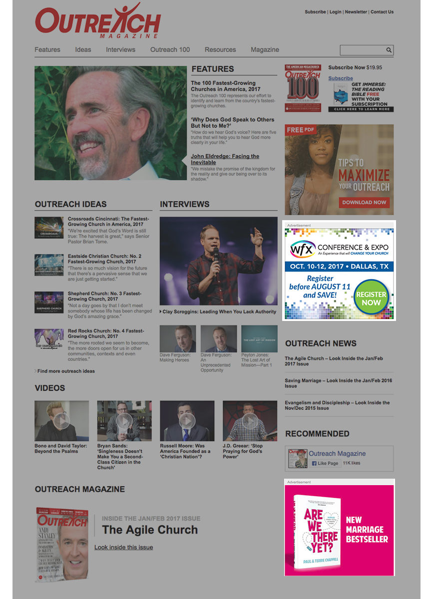 OutreachMagazine Online Display