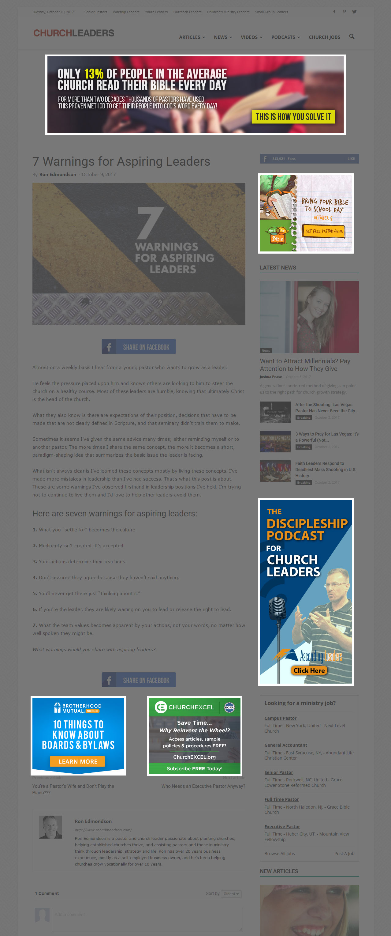 ChurchLeaders Online Display