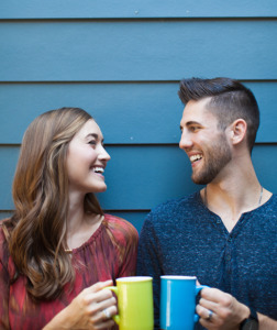 ThrivingMarriages.com married couple enjoying coffee together